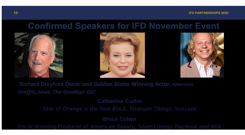 IFD Confirmed Speakers